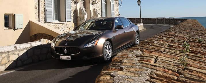 Maserati Quattroporte rental in Europe