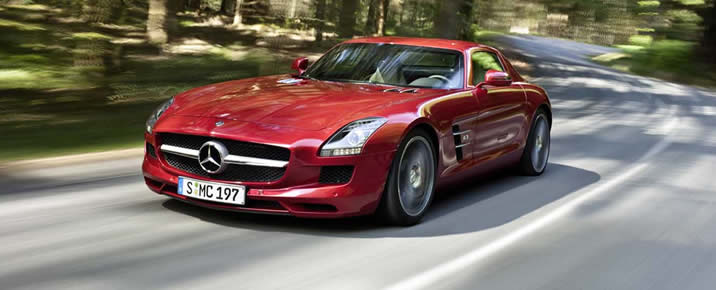 Mercedes SLS AMG rental in Europe