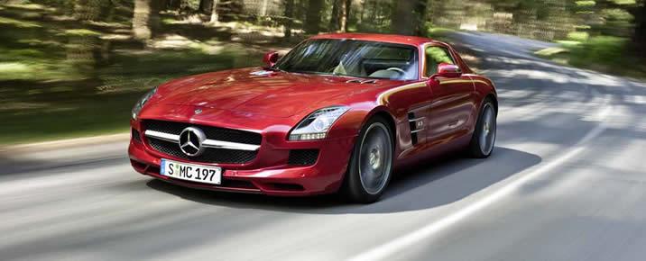 Mercedes SLS AMG rental in Europe