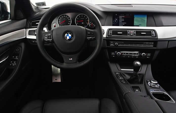 BMW M5 inside